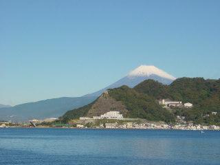 西伊豆民宿ニュー白坂からの富士山