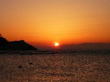 淡島の夕日