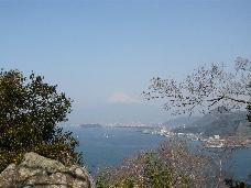 淡島の山頂より